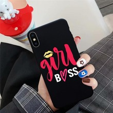 JAMULAR Fashion Letter Mom Boss Honey Phone Case For Huawei P20 Pro P30 Lite Mate 20 Honor 10 Soft Silicone Back Cover Shell Bag