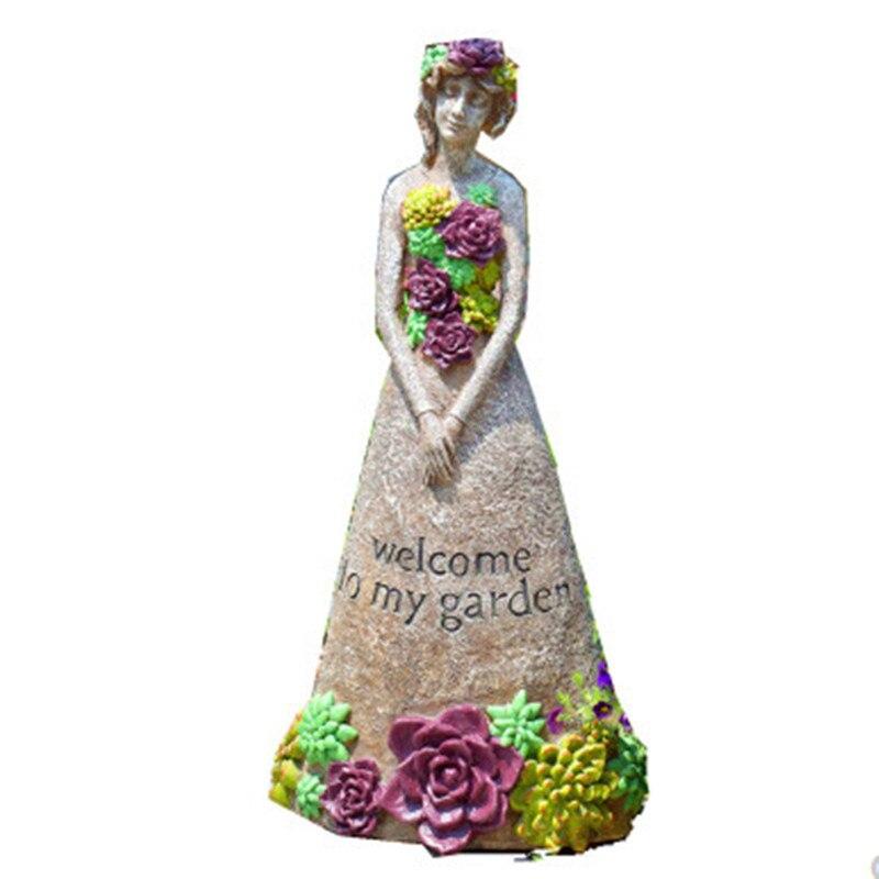 Estatua de jardín para exterior, decoración de bienvenida para niñas, adornos de estilo Retro americano para jardín y suelo, artesanía de jardinería, paisaje de jardín A782 Aspersor rotativo de 360 ángulos con rosca macho de 1/2 pulgadas, riego de césped para Agricultura, Riego de jardín, 1 Uds