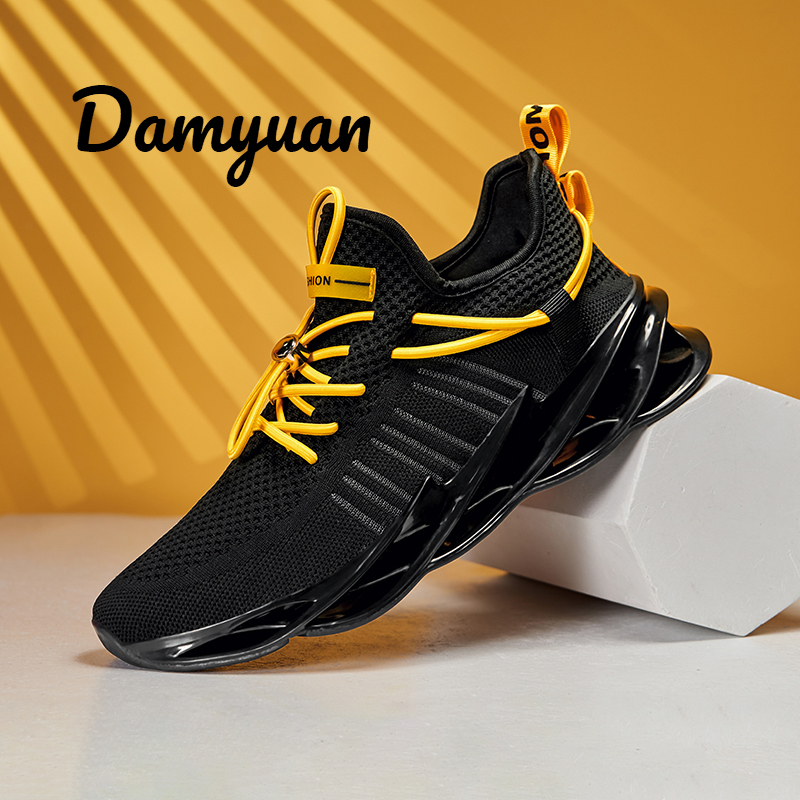 Damyuan Running Men Sport Shoes Sneakers Men's Sneaker Big Size 46 Height Increasing Comfortable Wear-resistant and Skid-proof