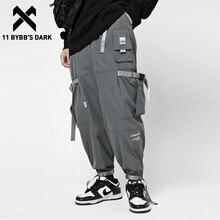 Cargo Pant Waist-Joggers Men Trousers Multi-Pockets Tactical-Function Dark-Streetwear