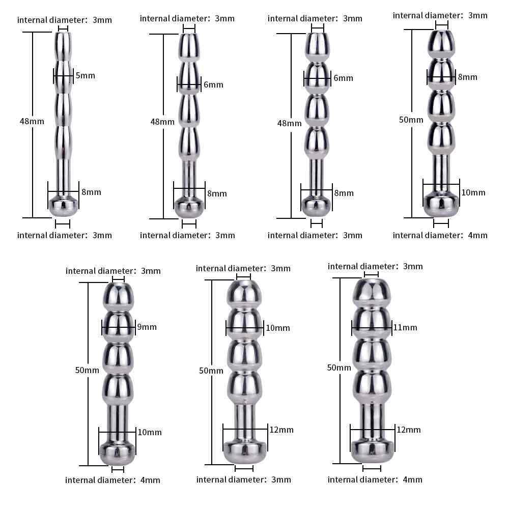 남성 Urethra 카테 테르 금속 페니스 플러그 페니스 플러그 Urethral 들것 Urethral 사운드 Dilator 성인 섹스 토이 남자 에로틱 숍