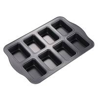 Mini Bread Loaf Mold Cake Non Stick Bakeware Baking Pan Oven Mould 8 Cups|  -
