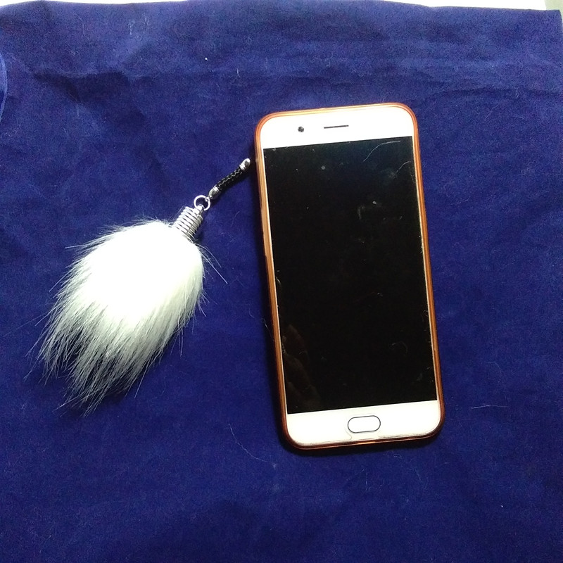 New Mini Pompon Key Chain 6 cm Fluffy Fake Fur Ball Key Ring Cute Pendant Bag Charming Car Key Holder Personality Gifts