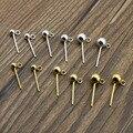 Серьги-бусины из серебра 925 пробы, 4 шт./лот, размер 3, 4, 5 мм