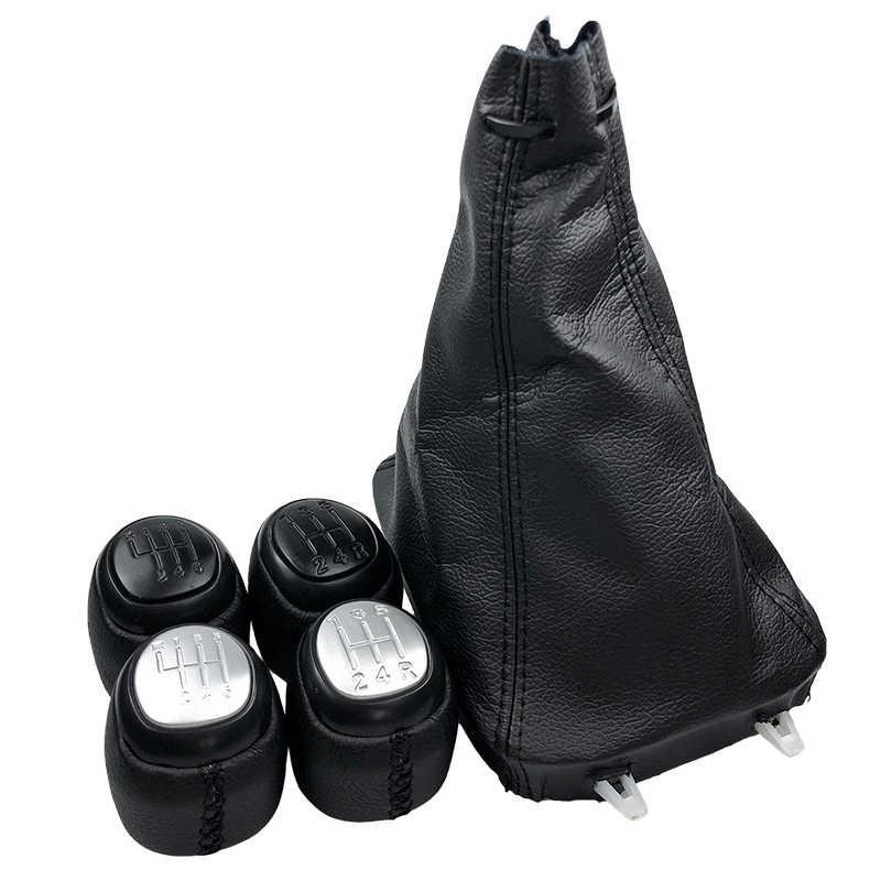 5/6 velocidade estilo do carro manual do deslocamento de engrenagem botão de couro do plutônio gaiter boot capa alavanca shifter caso para saab 93 9-3 ss 2003-2012