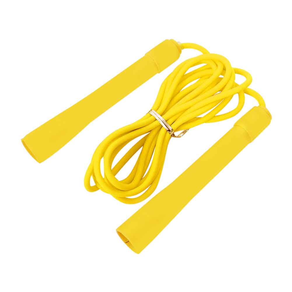 Exercise Adjustable Length PVC Rubber Outdoor Indoor Fitness Equipment Professional Student Jump Rope With Handle Adult Children