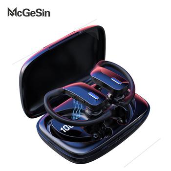 McGeSin nowe słuchawki TWS bezprzewodowe słuchawki Bluetooth sportowe słuchawki douszne słuchawki dla graczy wyświetlacz mocy LED muzyka słuchawki douszne z mikrofonem tanie i dobre opinie Zaczep na ucho Orthodynamic CN (pochodzenie) Prawda bezprzewodowe 120dB Do Gier Wideo Wspólna Słuchawkowe Dla Telefonu komórkowego