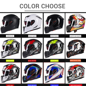 Image 5 - GXT Motorcycle Helmet Full Face Casco Moto Double Visor Racing Motocross Helmet Casco Modular Moto Helmet Motorbike Capacete #
