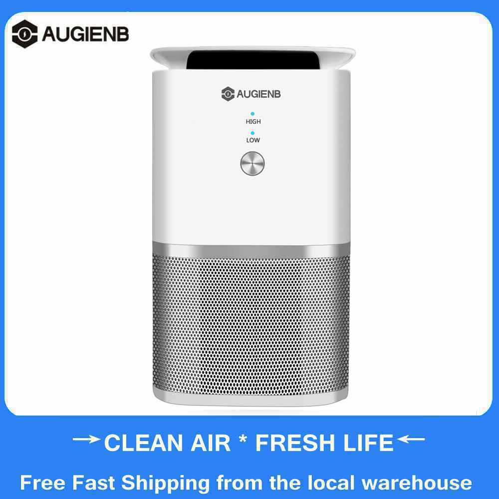 AUGIENB A-DST02 Desk HEPA Air Purifier Active Carbon Filter Air Cleaner Odor PM2.5 Eliminator For Allergiesc Pets Dander Smoke