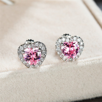 Rainbow Crystal Zircon Heart Stud Earrings Earrings Products under $30 8d255f28538fbae46aeae7: Aqua Blue|black|blue|Champagne|green|Multicolor|pink|red|Rose Gold Blue|white