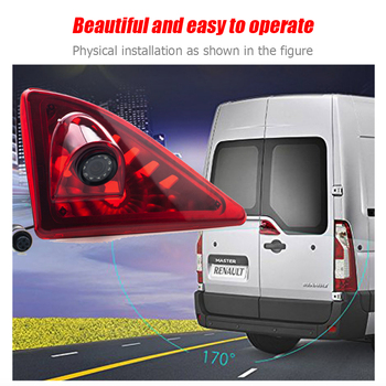 Stop Lamp Rear View Camera Waterproof 7pcs LED Night Vision Parking Reverse Backup Camera for Nissan NV400 2010-2016
