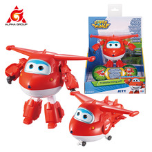 Big!!!ABS Super Wings Deformation Transforming Airplane Robot Action Figures Super Wing Transformation Toys For Children Gift lastest listing mini wooden super wings deformation airplane robot action figures transformation toys for children gift