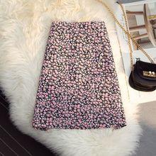 Women 2021 Spring Summer Fashion Printed Mini Skirts Female High Waist Thin Skirts Ladies New Slim Package Hip Skirts E223