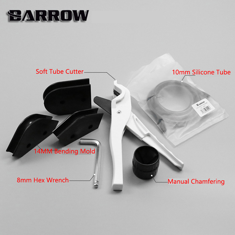 BARROW YRT Tool Kit Use For OD14mm + ID10mm PETG Pipe + Cutter + 14mm Bending Mold + 10mm Diameter Silicone Bar + Hex Wrench Set