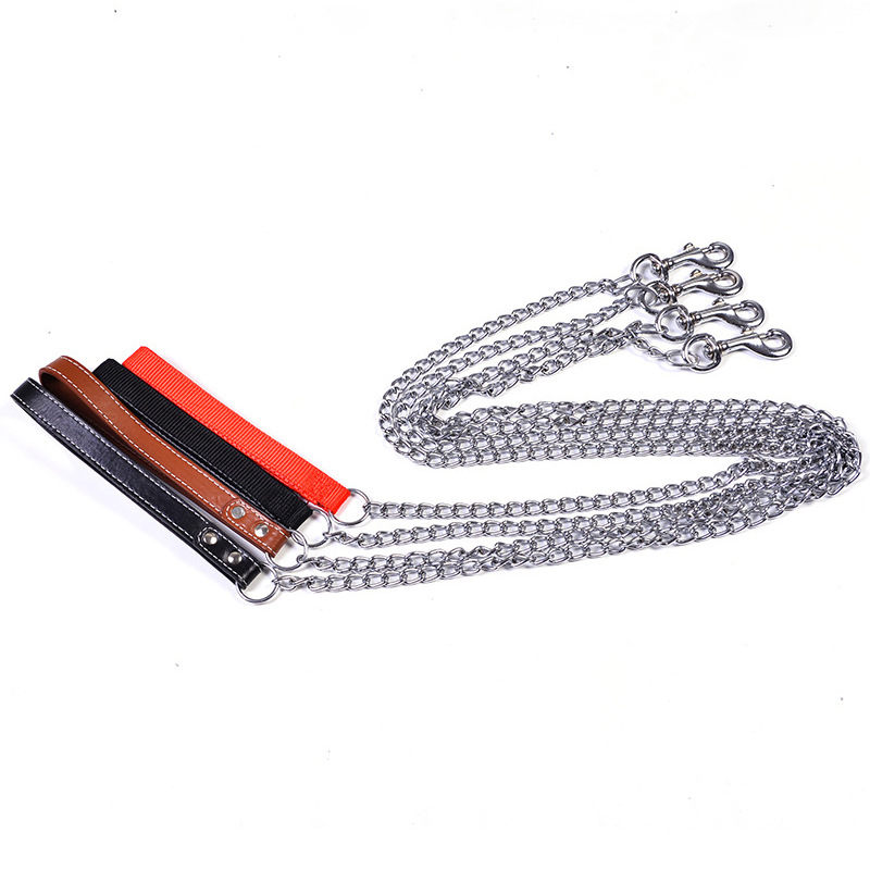 Pet Supplies Dog Chain Anti-Bite Chain Dog Traction Iron Chain