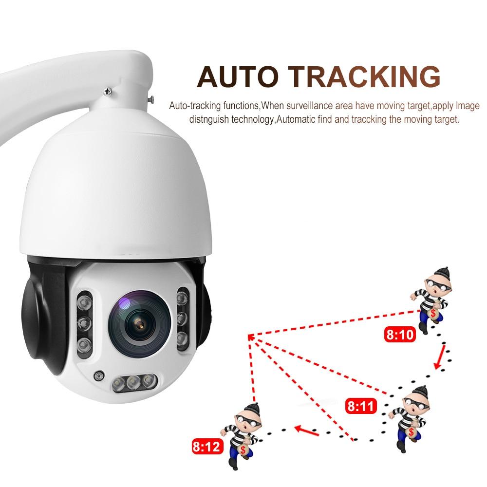 IMPORX New 5MP Wireless Auto Tracking PTZ IP Camera 20X Zoom IR120M WIFI High Speed Dome Camera P2P Onvif H.265 Home CCTV Camera