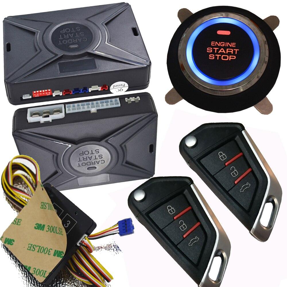 Système d'alarme intelligent de voiture de serrure centrale d'entrée sans clé d'arrêt de démarrage intelligent de cardot