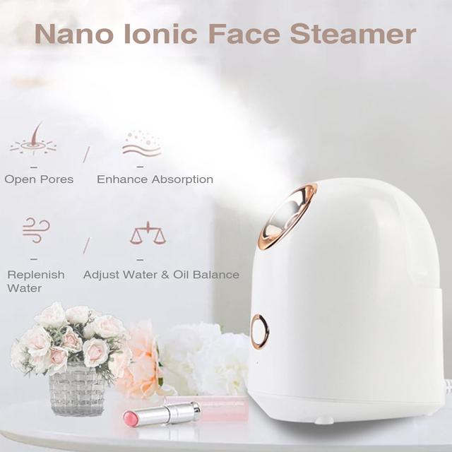 Face Steamer Nano Ionic Facial Cleaner Humidifier Hydrating Anti Aging Wrinkle Pores Reduce Blackhead Deep Cleaning