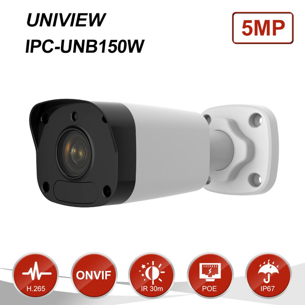 Uniview(Hikvision Compatible) 5MP Bullet PoE IP Camera Outdoor 2.8mm Fixed Lens CCTV Surveillance Night Vision IR30m IPC-UNB150W