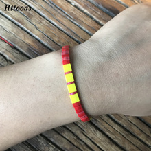 Rttooas Seaside Beach Jewelry Colorful Tila Beads Bracelet for Women Handmade Fashion Simple
