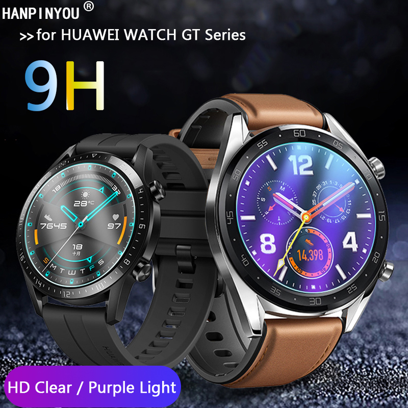 For HUAWEI WATCH GT 2 GT2 46mm/ Elegant 42mm Watch HD Clear /Anti Blue Purple Light 9H 2.5D Tempered Glass Screen Protector Film