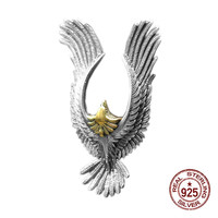 925 sterling silver pendant personalized fashion Indian style pendant feather flying eagle styling gift for lovers 2019 new