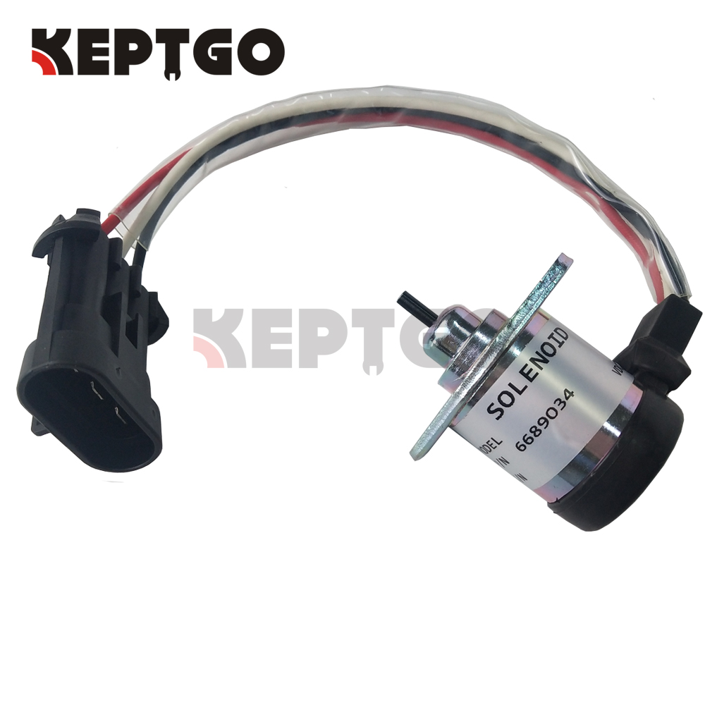 Fuel Stop Solenoid 1503/1G577-60011/6689034 for Bobcat S220 S250 S300 S330 skid steer 12v(China)
