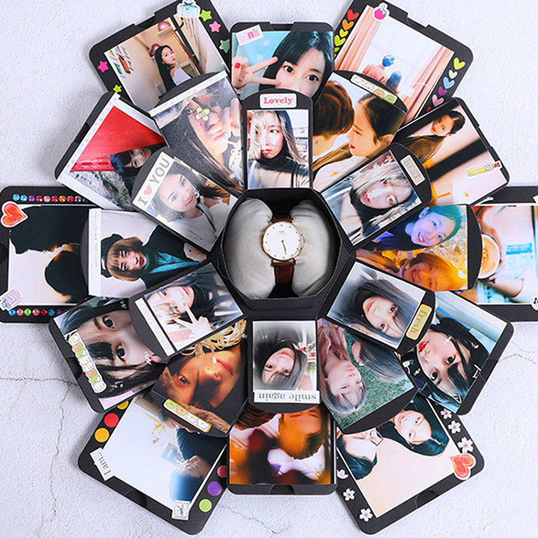 Memory Surprise Explosion Couple Box Love Memory DIY Photo Album Anniversary Christmas Gift Valentine's Day Gifts