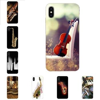 For Xiaomi Redmi Note 2 3 3S 4 4A 4X 5 5A 6 6A Pro Plus Soft Case Covers Saxophone Violin Pinao image