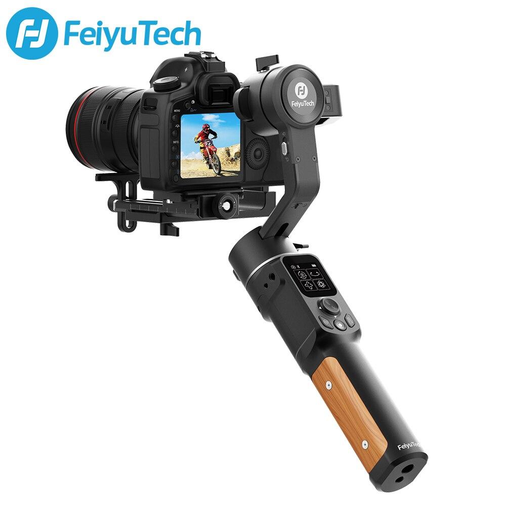 Feiyutech ak2000c câmera cardan dslr estabilizador handheld câmera lcd painel de toque 3-axis até 2.2 kg para canon nikon