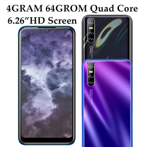 F2 Pro 4G RAM Android Smart phones 64G ROM Quad Core 13MP HD Face ID 6.26