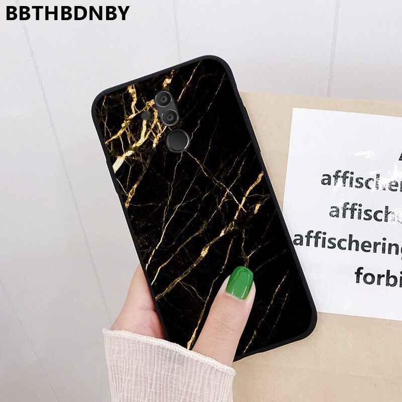 Parlak akik akıllı kapak siyah yumuşak kabuk telefon kılıfı için Huawei P10 lite P20 pro lite P30 pro lite Psmart mate 20 pro lite