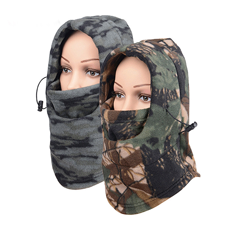 1pc Winter Warm Camouflage Breathable Balaclava Face Mouth Mask Man Women Unisex Outdoor Cycling Mask Black Mask Mouth Cover
