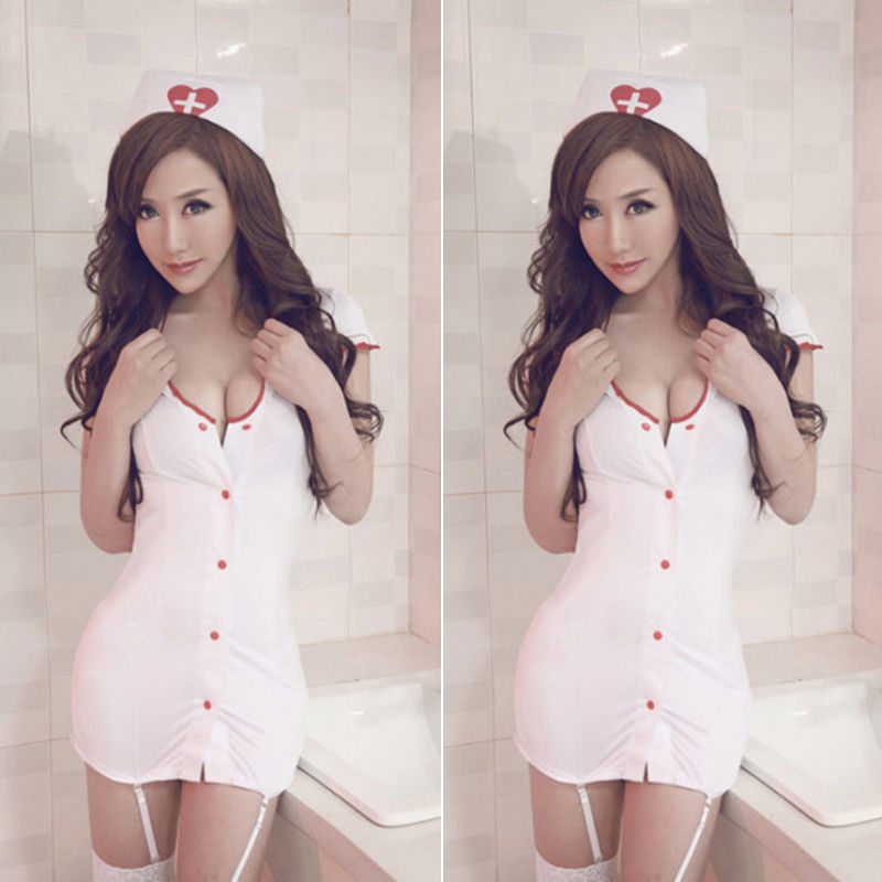 Nurse Cosplay Uniform Costume Uniform Babydoll Mini Dress Outfit Sexy Lingerie Nurse Cosplay Suit