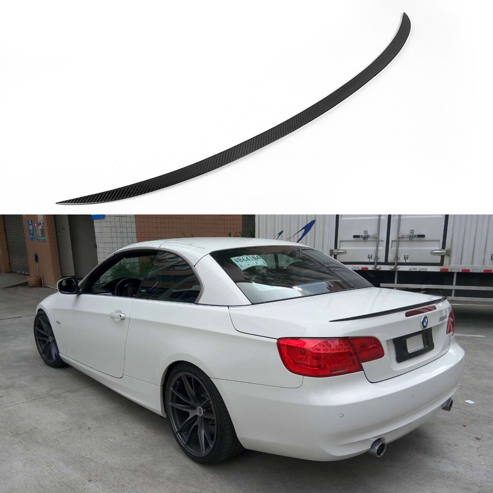 e93 cabriolet M3 style carbon fiber rear trunk spoiler wing for BMW 3 series e93 335i 2007-2013 image