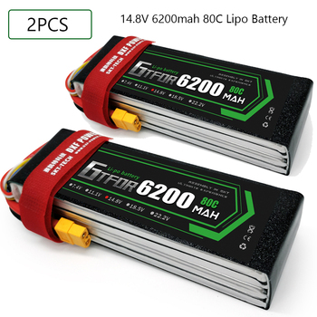 GTFDR 4S 14.8V 6200mah 80C-160C Lipo Battery 4S  XT60 T Deans XT90 EC5 For FPV Drone Airplane Car Racing Truck Boat RC Parts
