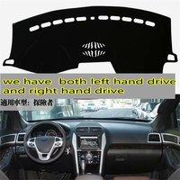 Para Ford Explorer 2011 2012 2013 2014 2015 2016 2017 Carro-styling Dashmat Accessorie Tampa Do Painel de instrumentos Do Carro Almofada Tapete Mat Traço