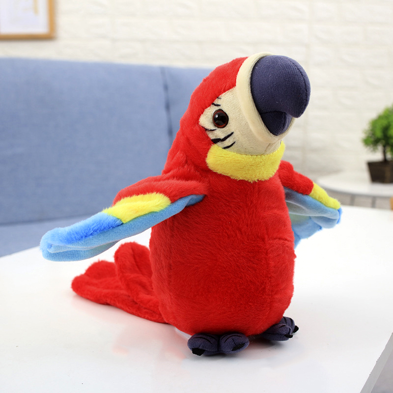 Plush-Toy Repeats Talking-Parrot Birthday-Gift Speaking Electric Record Stuffed Cute