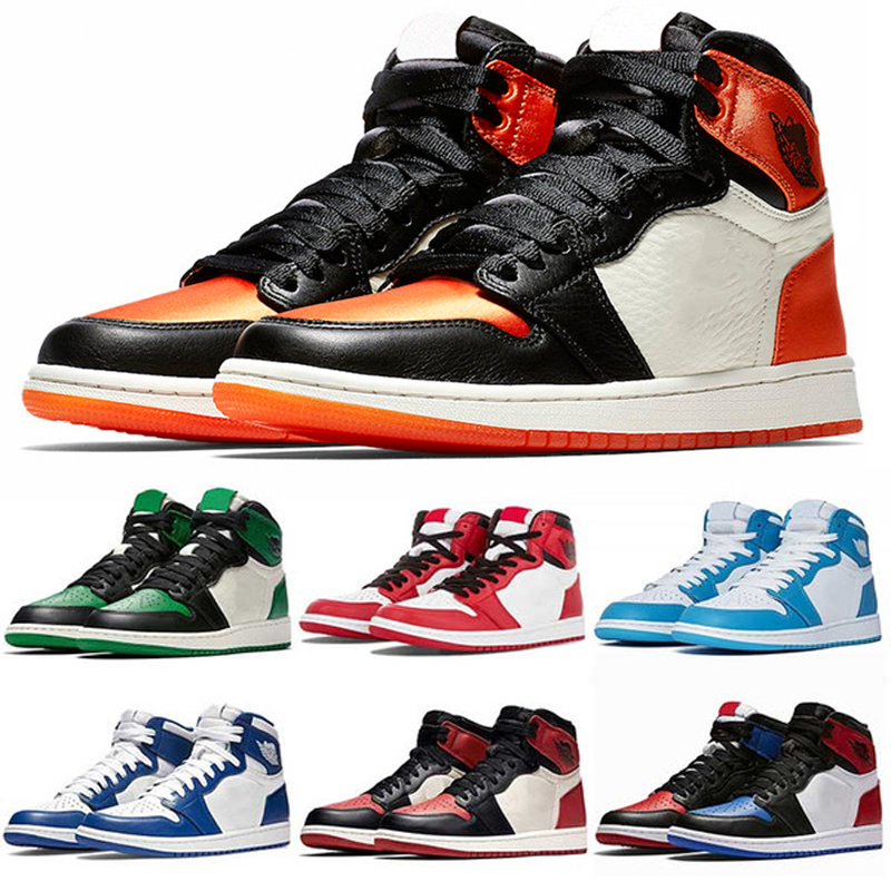 2020 Top Quality Basketball Shoes Retro 1 I High OG Game Royal Banned Shadow Bred Toe Clay Green Trainers 1S Sneakers EUR 36-47
