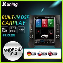 Автомобильный стерео-радиоприемник Tesla Style 6G 128GB Android для Volkswagen Toureg 2003-2011, мультимедийный видеоплеер с GPS Навигатором, головное устройство ...