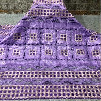 5 Yards African bazin riche fabric with brode Latest fashion Cotton embroidery bazin lace fabric for dress lace fabric