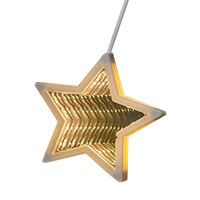 Garden Holiday String Light Party Window Display Christmas Home Indoor Hanging Star Shape 3D Tunnel Decorative Waterproof Led
