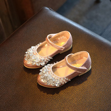 купить 2019 New Fashion Rhinestone Children Princess Dance Shoes Kids Girl Dress Party Shoes Pink 3 4 5 6 7 8 9 10 11 12 Years по цене 665.64 рублей