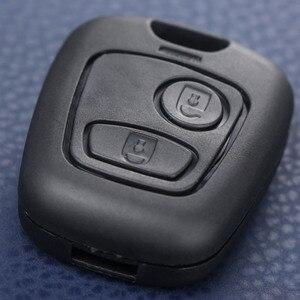 Image 3 - 2 botão Auto Fob Chave Em Branco Substituição Shell Case Capa Para Peugeot 107 207 307 407 106 206 306 406 Citroen C1 C2 C3 C4 XSARA