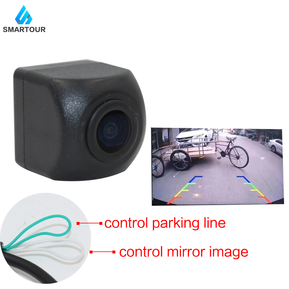 Smartour Car Reversing Back Up Camera Vehicle Rear Front Side View Camera CCD Fish Eyes Night Vision Waterproof IP68  Universal