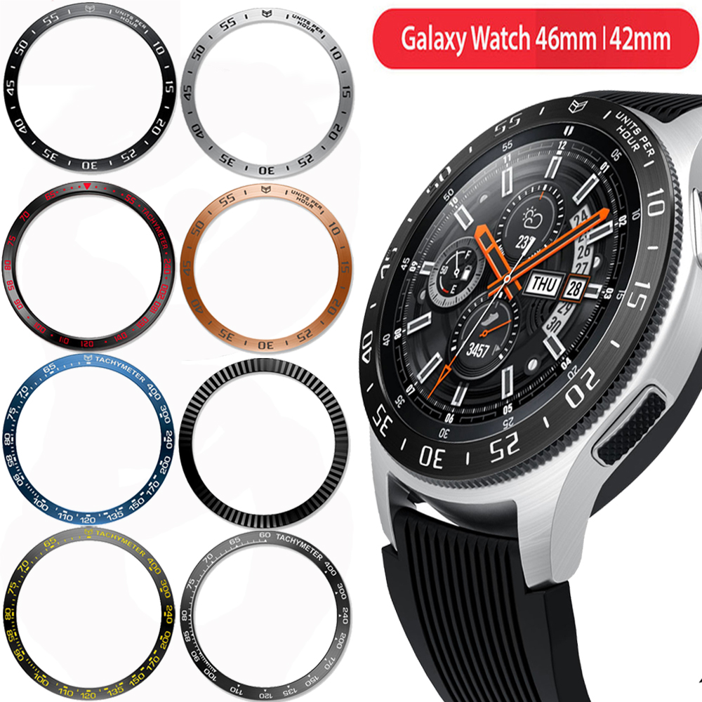 For Galaxy Watch 46mm 42mm Bezel Ring Cover For Samsung Gear S3 Frontier /Classic Smart Bracelet Ring Case Protective Shell