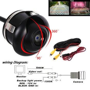 360 Degree HD Night Vision Car Rear View Camera IP68 Waterproof Auto Rear View Camera Back Reverse Side Reversing Backup Camera