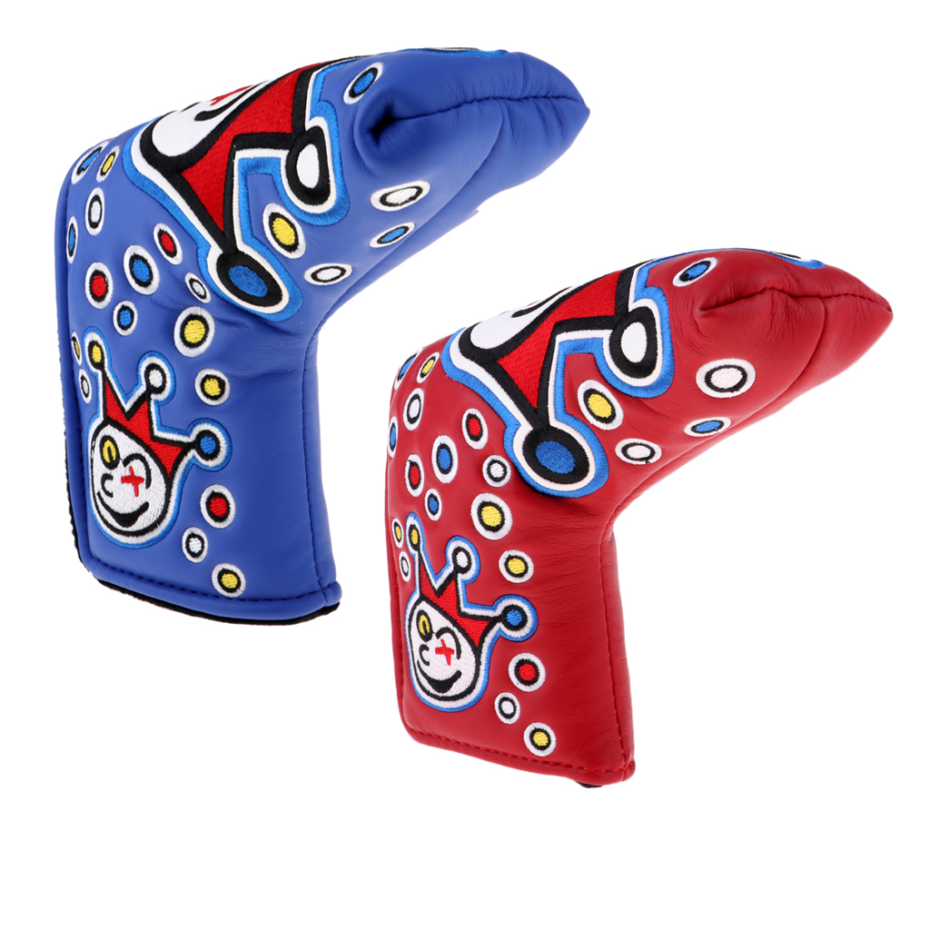 2 Pieces Golf Putter Covers, Golf Club Putter Protector, Golf Mallet Putter Headcovers, Anti-Scratch And Wear-resisting