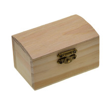 Boîte à bijoux en bois inachevé, jouets artisanaux en bois, carré, 90mm