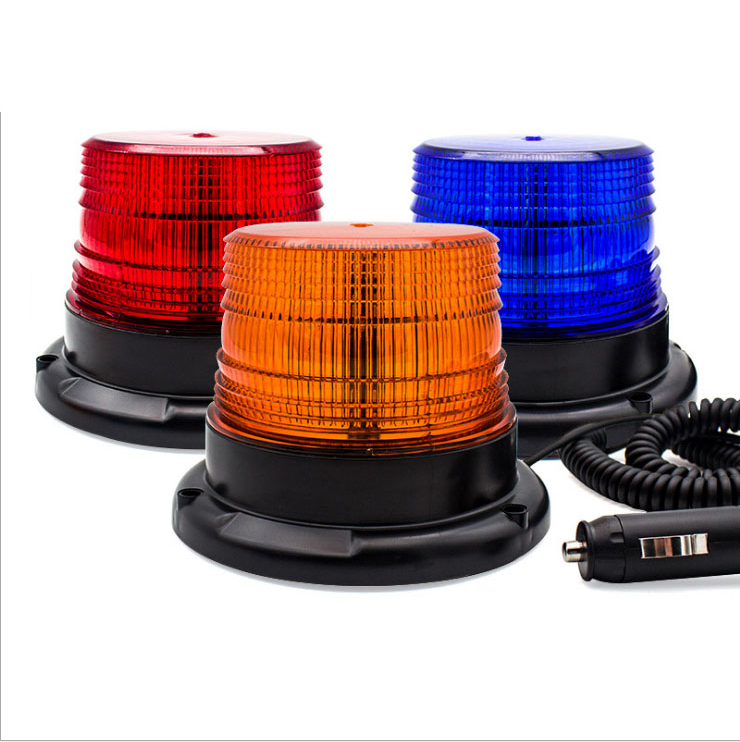 Waterproof Led Warning Light For Trucks Beacon Lights Highlight 12V/24V Magnetic Attraction Strobe Emergency Light